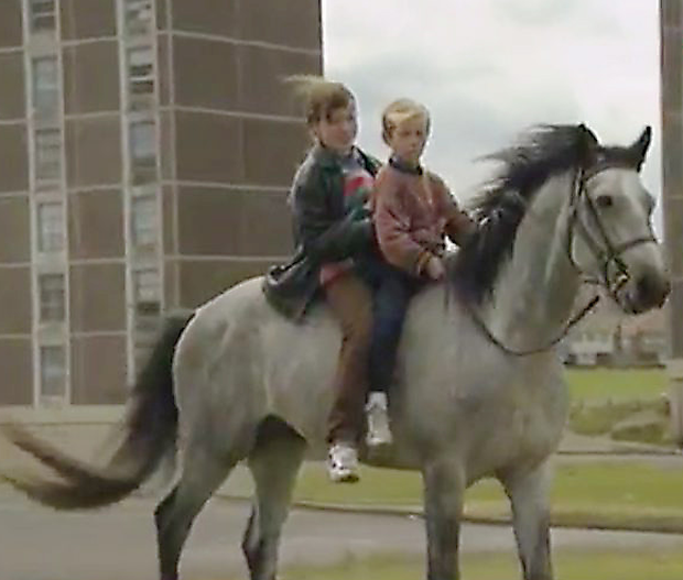 Children on horse in Ballymun