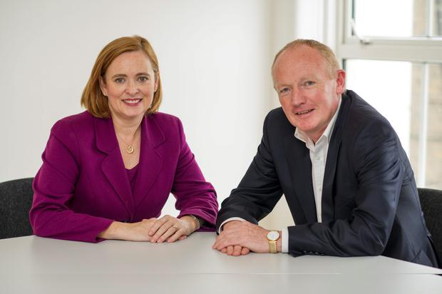 Eilish Hardiman, the CEO of the Children's Hospital Group and John Pollock, the National Paediatric Hospital Development Board project director