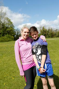 12 year old Jack O'Brien from Navan, Co Meath who this year celebrates the 10th anniversary of a kidney transplant thanks to his donor mum Cassandra. Jack put in a great performance in the 3km race securing a Gold medal. Transplant Games
