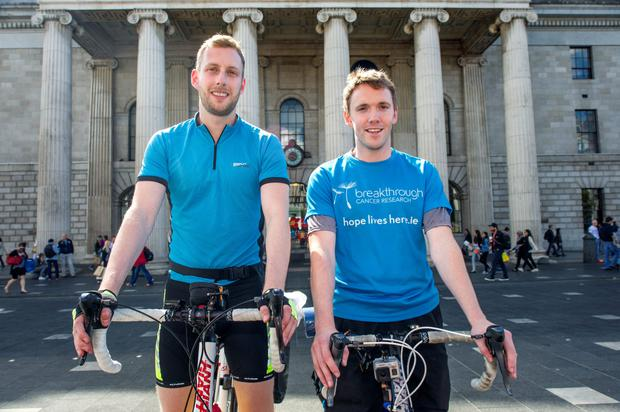 Sean Rowland (27) and Cian Whooley (28) set off on a 9 week charity cycle to Istanbul.