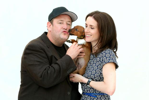 Maia Dunphy and her husband Johnny Vegas