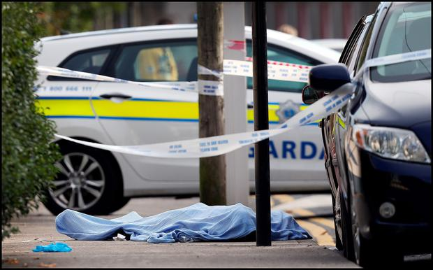 The fatal shooting at Clonard Street Balbriggan this morning.