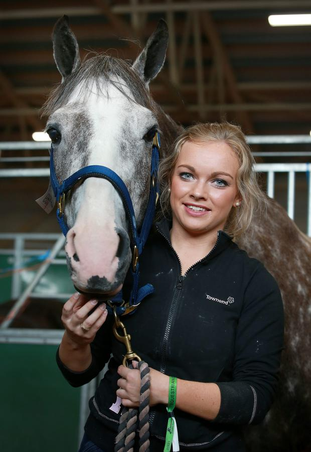 Vicky Ryan from Patrickswell Co Limerick pictured with her horse 'PJ