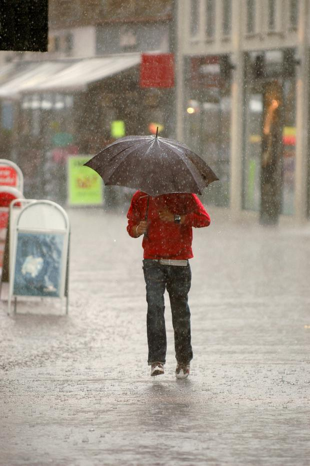 Christmas shoppers may want to bring an umbrella with them this week