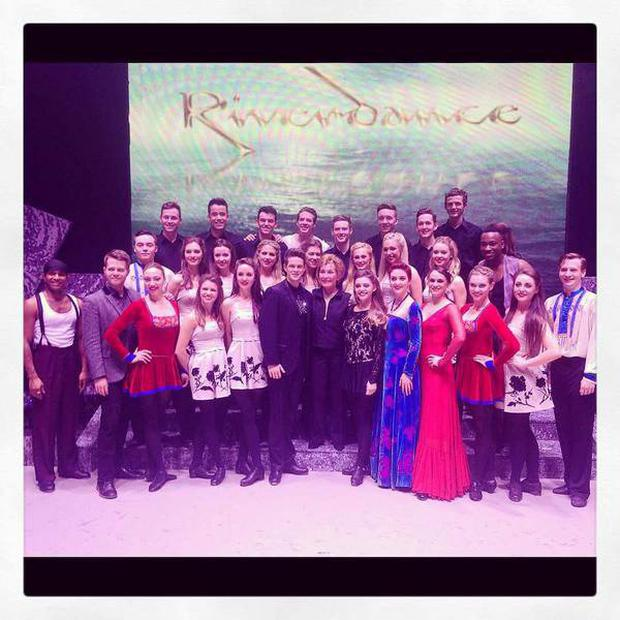 Judge Judy on the Riverdance stage