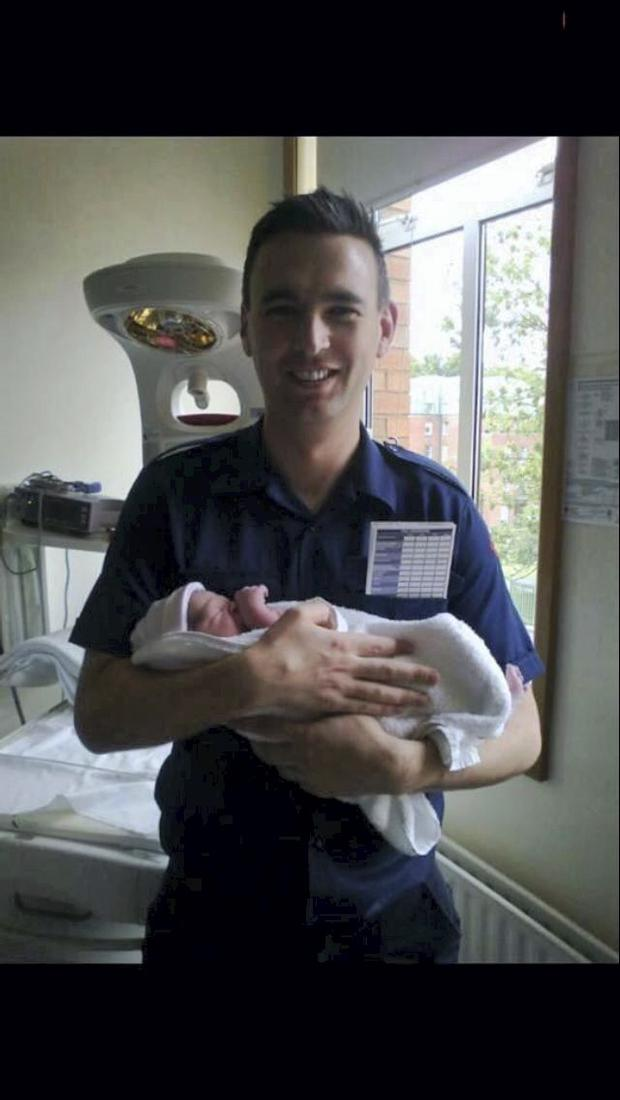 Rob Nulty with the baby boy