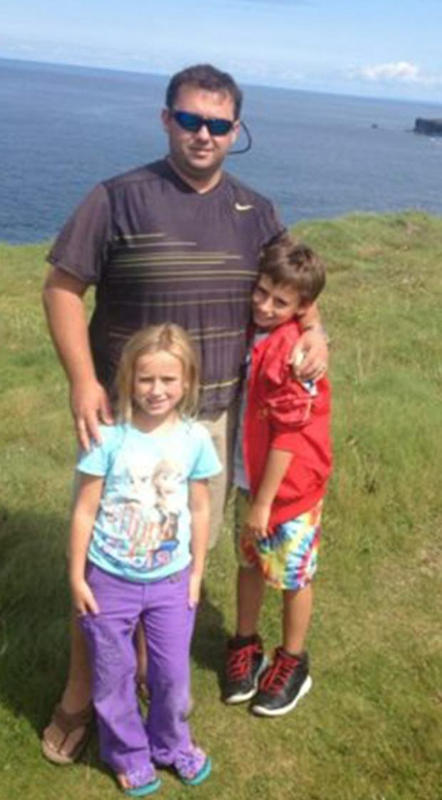 Jason Corbett with his children