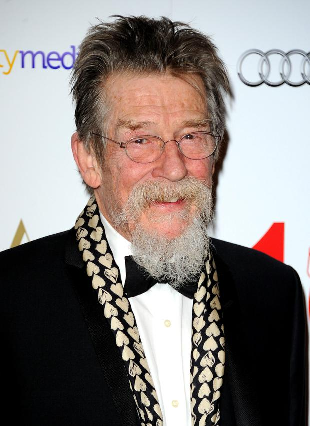 John Hurt attends the London Critics' Circle Film Awards at The Mayfair Hotel on February 2, 2014 in London, England.