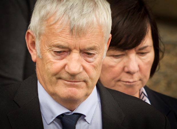 John Buckley with his wife Marian Buckley outside Glasgow High Court, Glasgow, after Alexander Pacteau admitted beating their daughter Karen to death with a spanner then trying to dispose of her body using caustic soda. PRESS ASSOCIATION Photo. Picture date: Tuesday August 11, 2015. See PA story COURTS Pacteau. Photo credit should read: Danny Lawson/PA Wire