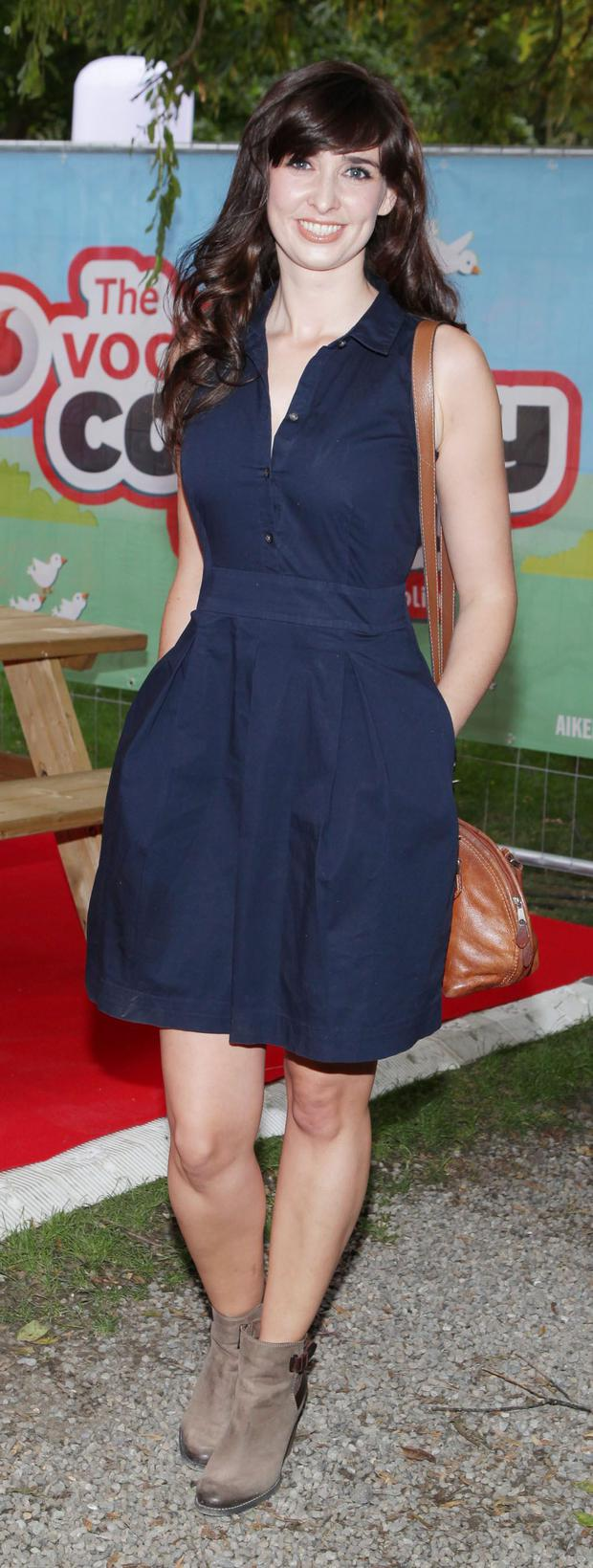 Aoibhinn Ni Shuilleabhain at the Opening Night of the Vodafone Comedy Festival at the Iveagh Gardens Dublin