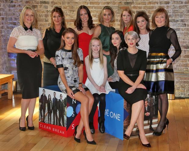 Back row from left, Claire Byrne, Aisling O'Neill, Aoibheann McCaul, Kathryn Thomas, Mairead Ronan, Mary Kennedy. Front from left, Una Foden, Amybeth McNulty, Kelly Thornton and Sinead Kennedy. Photo: Colin Keegan, Collins Dublin.