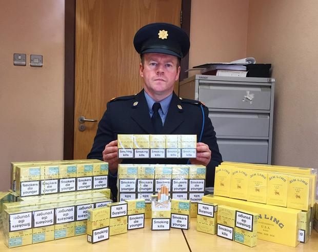 The consignment of seized illegal cigarettes