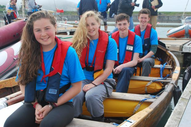 Malahide sea scouts Heather Murphy, Elysia Maher, Craig Newman and Nathan Greene