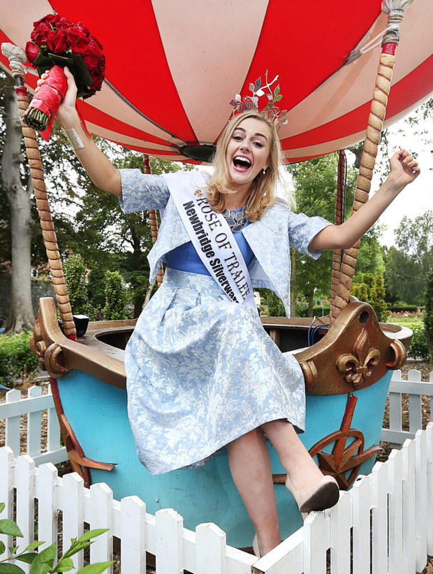 A delighted Elysha enjoys her first day as the 2015 Rose of Tralee