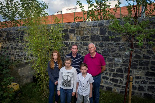 Christine Palmer (13), Martin Gannon and David Palmer. Front: Aoife Heffernan (12) and Davin Palmer (10)