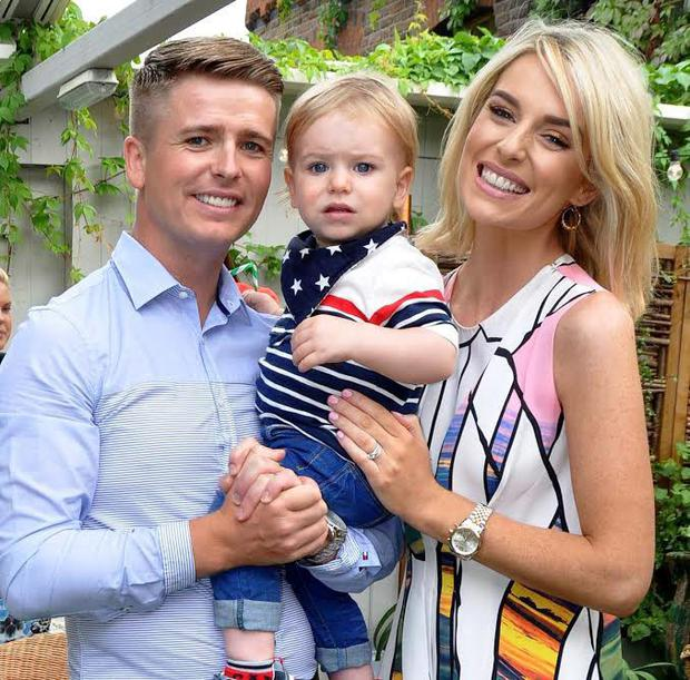 Brian Ormond, son Ollie and wife Pippa O'Connor