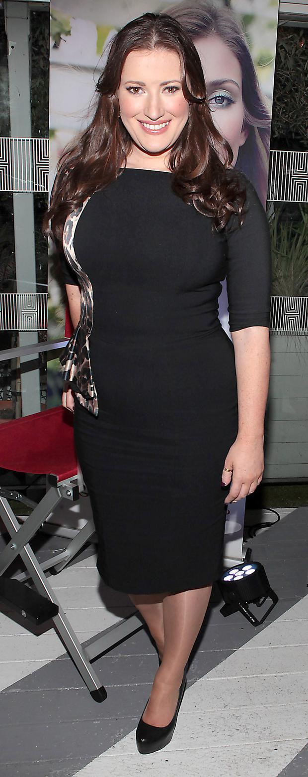 Elaine Crowley at the launch of The Clarins Garden Escape Spring Make up Collection at House Leeson Street,Dublin.