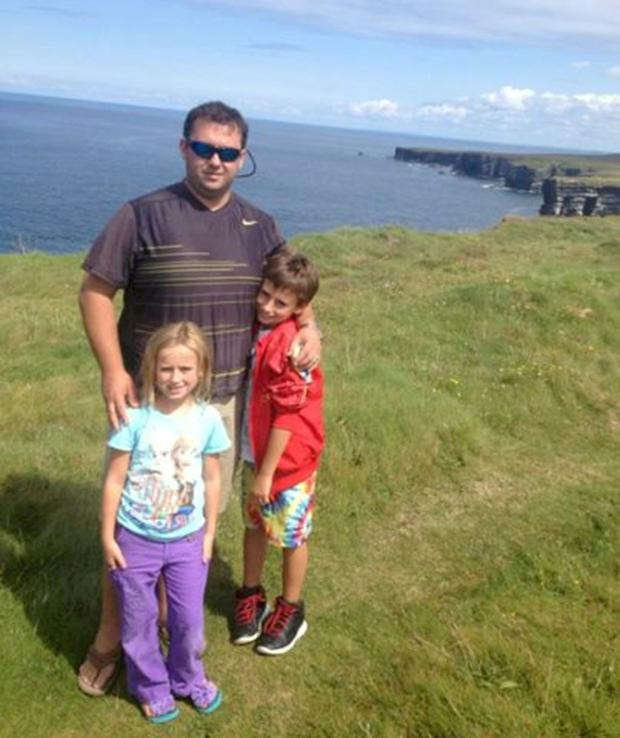 Jason Corbett with his children Jack (now 10) and Sarah (now 8)