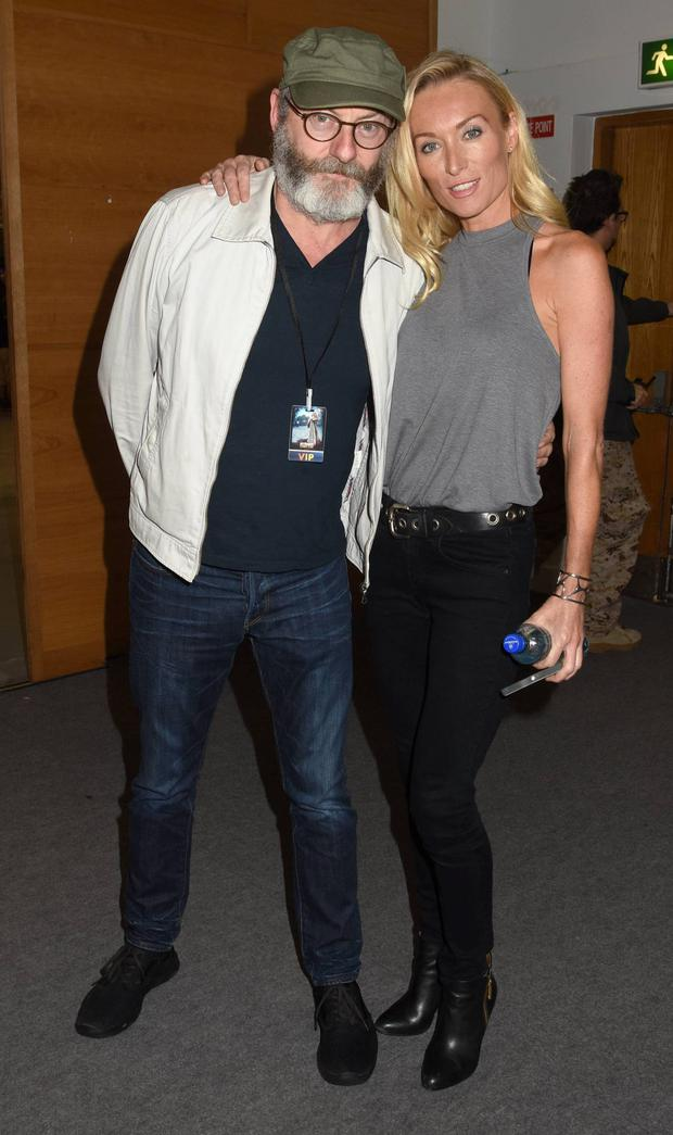 Liam Cunningham and Victoria Smurfit at the Dublin Comic Con