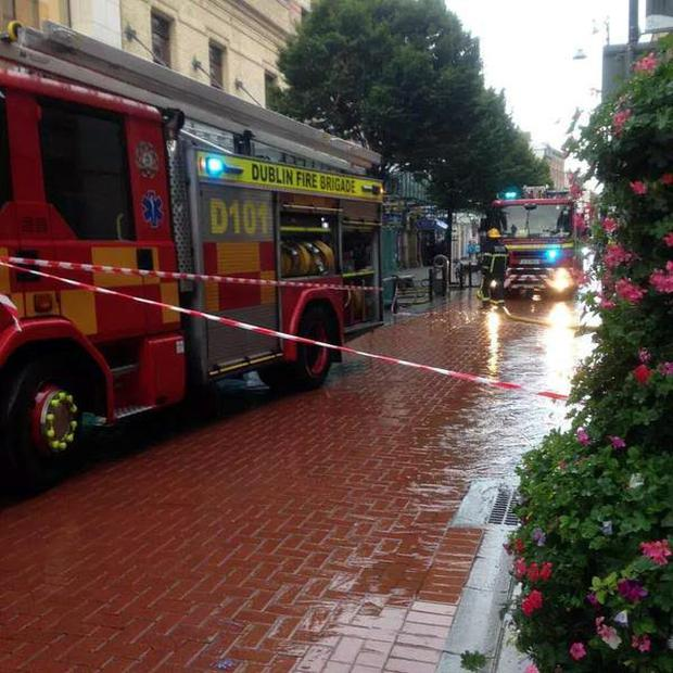 Fire engines at Gaiety theatre