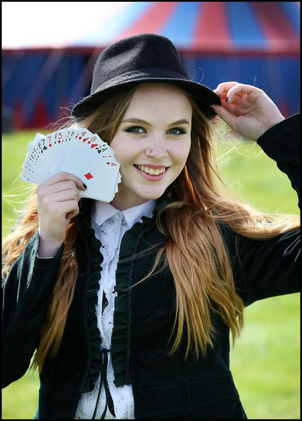 Getting ready for the Electric Picnic at Stradbally Co Laois was Megan Bea-Tiernan from Bray Co Wiclklow at Shane Gillen's Magic Mushroom tent.