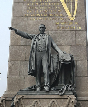 A statue of Charles Stewart Parnell on Dublin's O'Connell Street.