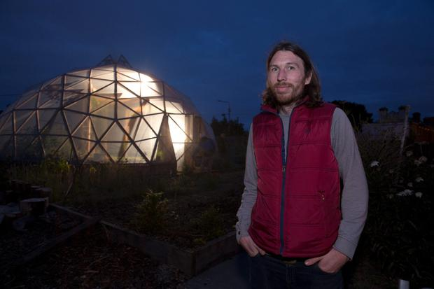 Niall O'Brien at the Grow Dome Project on Ruben street in Rialto. Picture: Arthur Carron