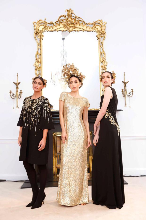 Models at Louise Kennedy's AW 2015 fashion launch at her headquarters in Dublin's Merrion Square