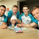 Kevin O' Brien, Ciaran Kilkenny, Brian Fenton and Philly Ryan with Molly McNally