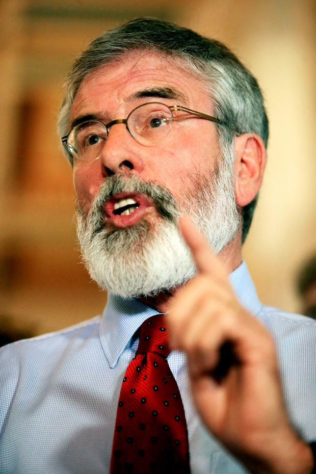 SF leader Gerry Adams