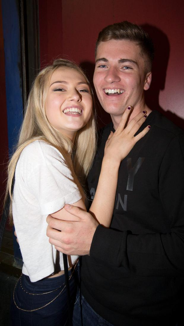 Shannon McCurtin and Stephen Dowling who got engaged during celebrations at The Sackville Place Bar last night.