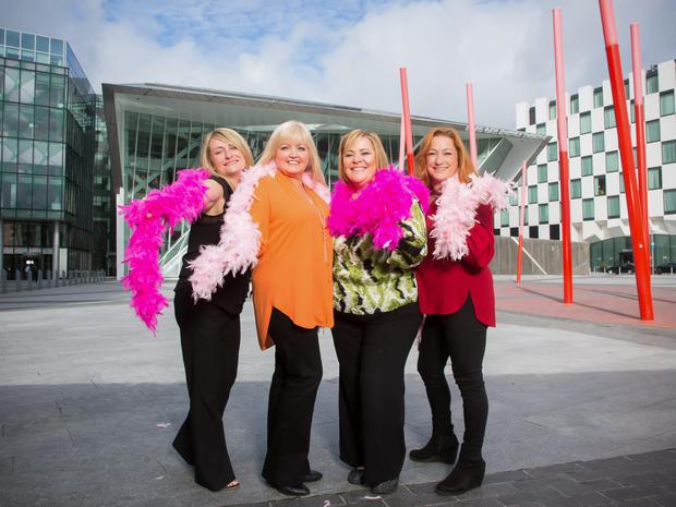 Mary Byrne, Sue Collins, Niamh Kavanagh and Linda Nolan, marking the first day of rehearsals for Menopause the Musical