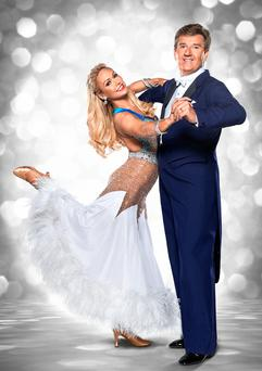 Daniel O'Donnell with his dance partner Kristina Rihanoff before the start of this year's BBC1 dance competition, Strictly Come Dancing.