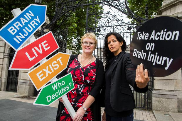 Barbara O Connell - CEO ABI Ireland, and Tara Bedi, wife of Dominic Morrogh who is living with an ABI.