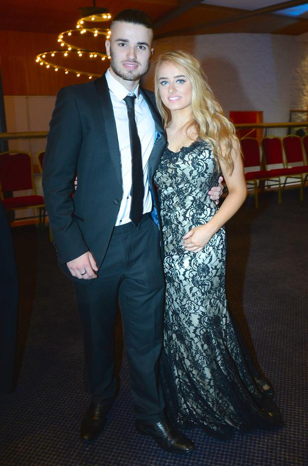 Lewis Fox (18) and Carla O'Neill (18) wearing Beverly Hills Boutique Castlebar