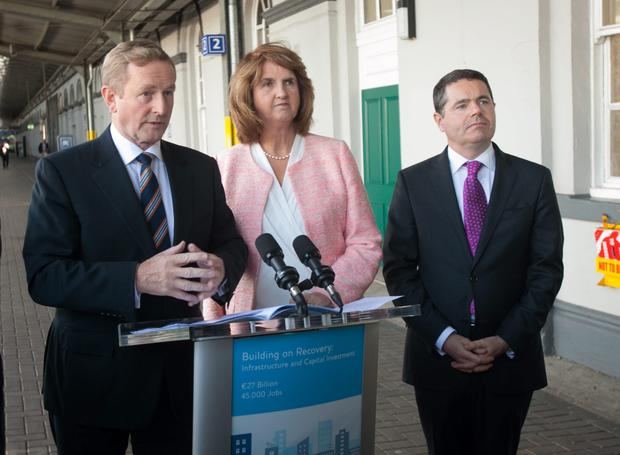 Taoiseach Enda Kenny TD, Tanaiste Joan Burton TD & Minister for Transport, Tourism and Sport Paschal Donohoe TD