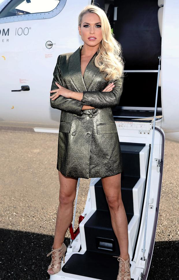 Sinead Duffy pictured when The Gold Fever Jet Set touched down at Weston Airport