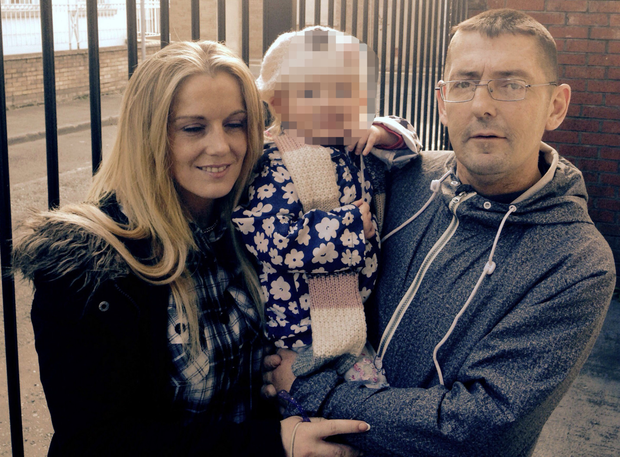 Noel Winterlich with Dearbhla Leahy and their daughter Amber