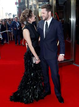 Madeline Mulqueen with Jack Reynor at the Edinburgh premiere of Macbeth