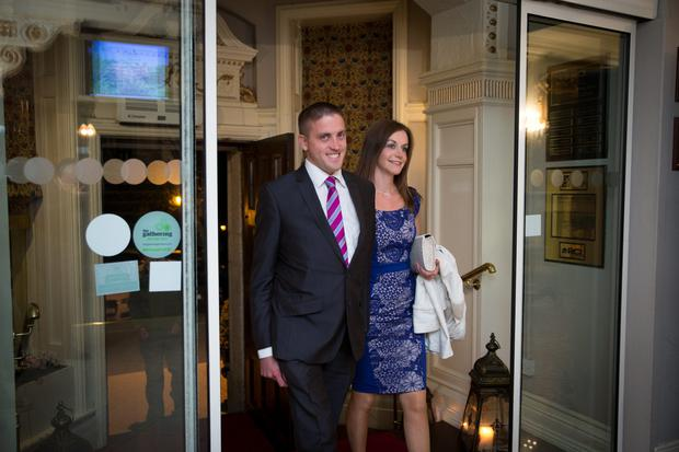 Cllr Cormac Devlin and wife Jennifer Allen Devlin at the Fianna Fail selection convention for Dun Laoghaire-Rathdown at the Fitzpatrick Castle Hotel in Killiney. Picture:Arthur Carron