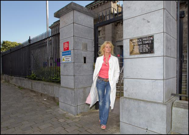 Sharon Collins leaving prison in 2012