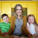 Amy with Louis Chambers (5) and Holly Hopkins (4).
