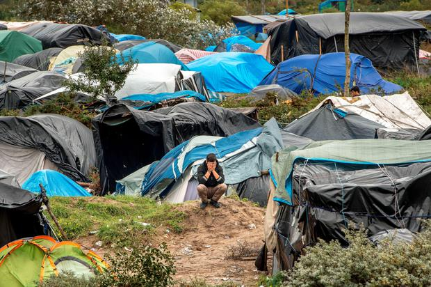 A picture taken in Calais on October 7, 2015 shows a site dubbed the
