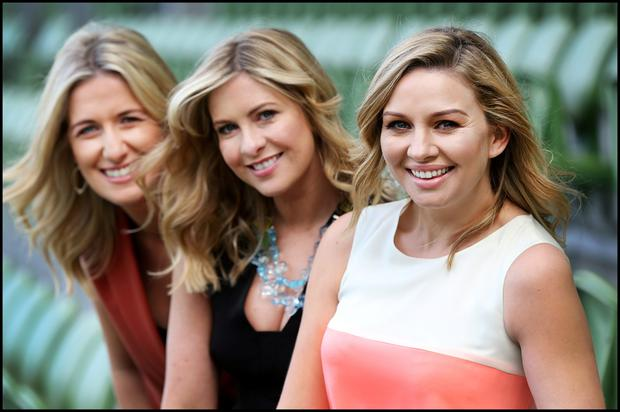 Pictured at the TV3 Autumn Launch at the Aviva Stadium was Ireland AM Presenter Ciara Doherty and Saturday and Sunday AM Presenters Laura Woods and Anna Daly.