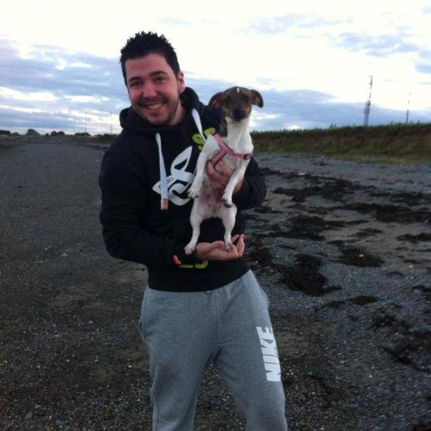 Adrian and his dog