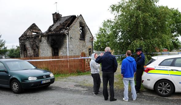 The scene of the fire