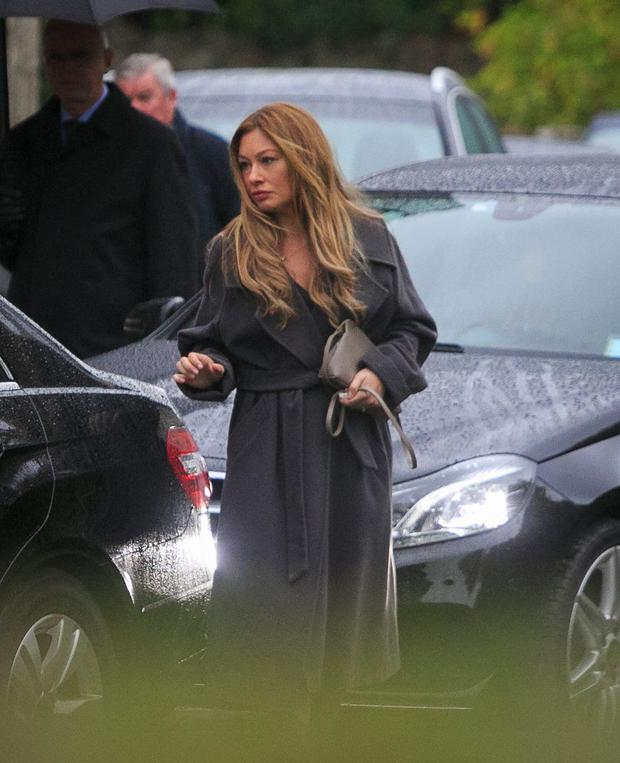 Leigh Arnold during the funeral of Nicholas (Nicky) Arnold at Tullow Parish Church, Carrickmines, Dublin.