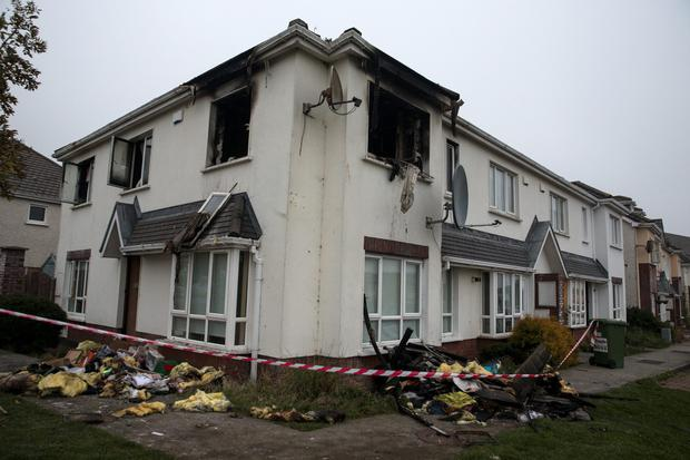 The gutted family home at Moylaragh Gardens in Ballbriggan, Dublin