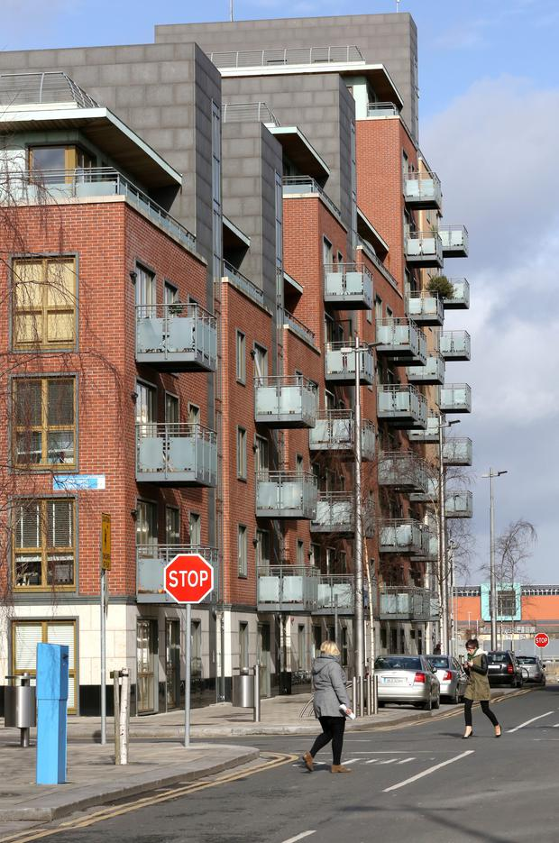 Longboat Quay Apartments near dublin's Grand Canal Dock.