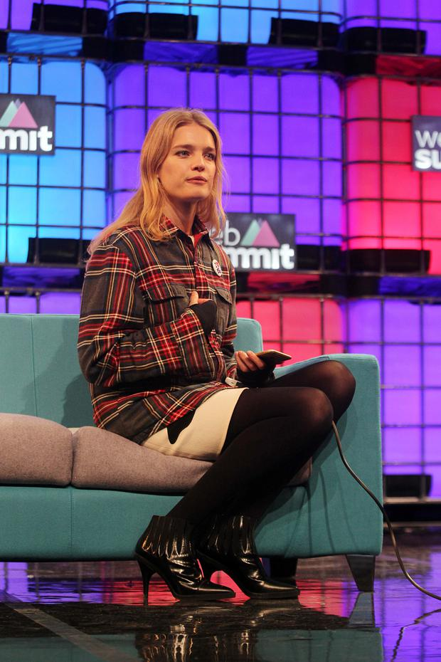Model Natalia Vodianova pictured at opening day of Web Summit in Dublin this morning